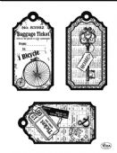 Viva Decor Clear Silicone A5 Stamp Set - Tags Bicycle - 4003 120 00